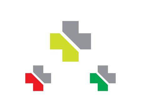 hospital logo vector illustration. Illustration