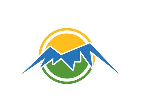 Illustration that can symbolize a natural beauty that is mountain. Suitable for sports logs such as hiking or climbing.