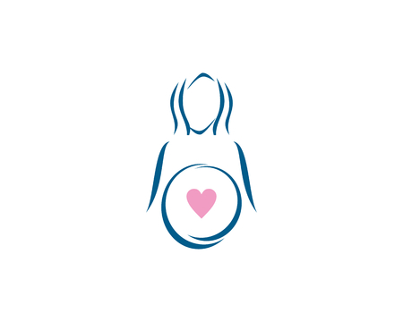 Illustration related to health, care, babies and pregnant women. Illustration