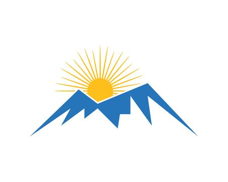Illustration that can symbolize a natural beauty that is mountain suitable for sports logs such as hiking or climbing.