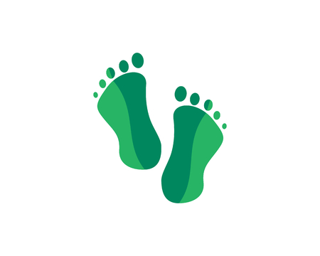 Is a symbol that symbolizes the human body part of the foot, may be a symbol of therapy or health. Ilustração