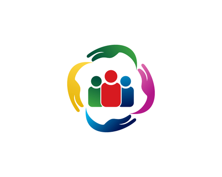 is a symbol related to social, humanitarian, cooperation, teamwork, business, charity or foundation Vector Illustratie