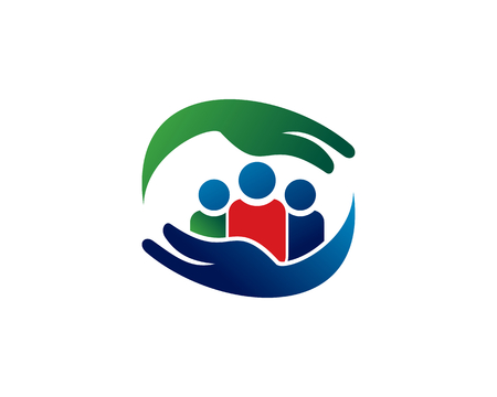 is a symbol related to social, humanitarian, cooperation, teamwork, business, charity or foundation