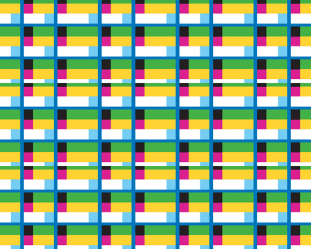 the art of combining objects so that it becomes a form of pattern background