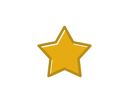 Cute star icon Stock Illustratie