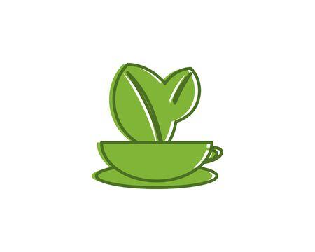 Green tea plan icon