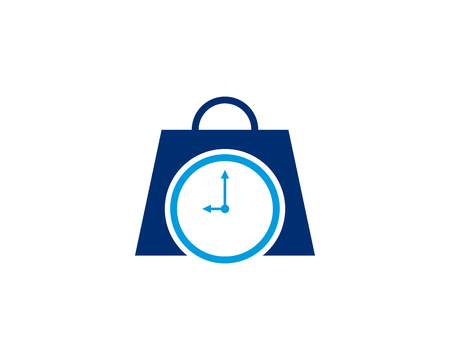 Shopping bag with clock icon Illustration