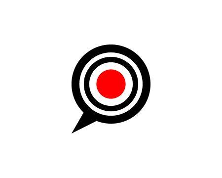 Chat logo icon vector illustration Illustration