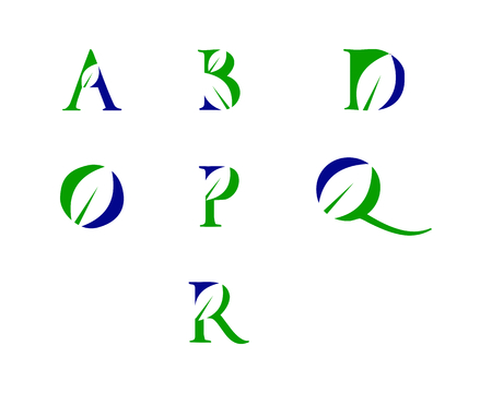 is a symbol in the form of a combination of letters and leaf
