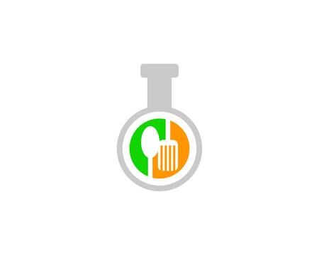Food Lab Logo Design Element Foto de archivo - 109941970