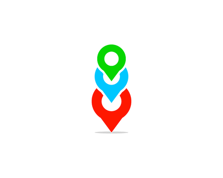 Group Pin Logo Design Element