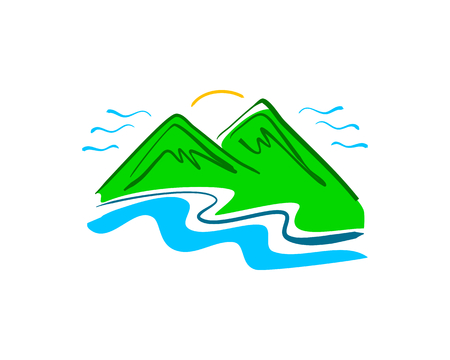 Hand drawn mountain logo