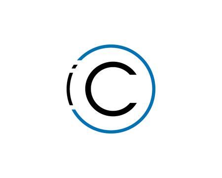 Initial Letter IOC Logo Template Design