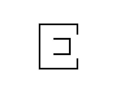 Outline Letter E Logo, Alphabet Logo Design Vector