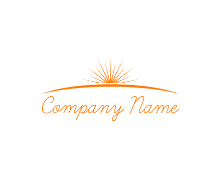 Sun Logo Design Template Vector