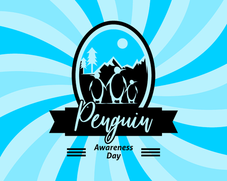 Penguin awareness day vector illustration Stock Illustratie