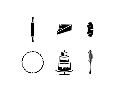 Vector set of bakery icons Illustration