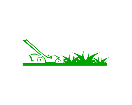 Lawn care logo design template Illustration