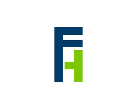 Initial Letter FH Logo Template Design