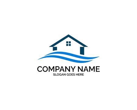 Beach house logo design template Logo