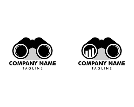 Set of Binoculars logo Çizim