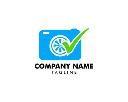 Photography check logo designs vector, Camera logo designs concept Standard-Bild - 118967863