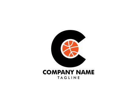 Letter C for Basketball Logo Template