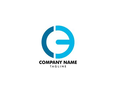 Diseño de plantillas de logotipo CE letra inicial