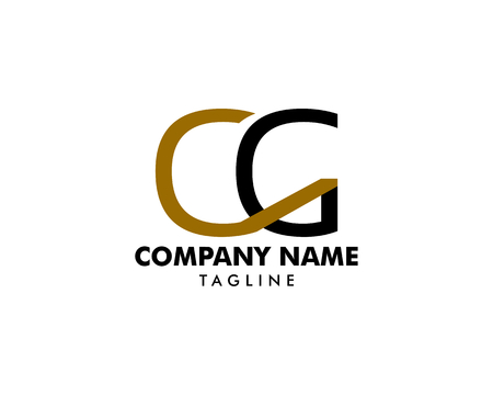 Initial Letter CG Logo Template Design