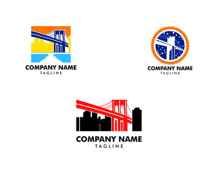 Set of Brooklyn Bridge logo