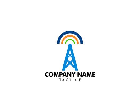 Tower signal vector logo