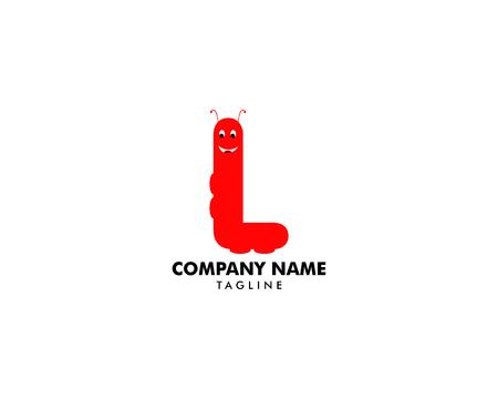 Worm Letter L Logo Design