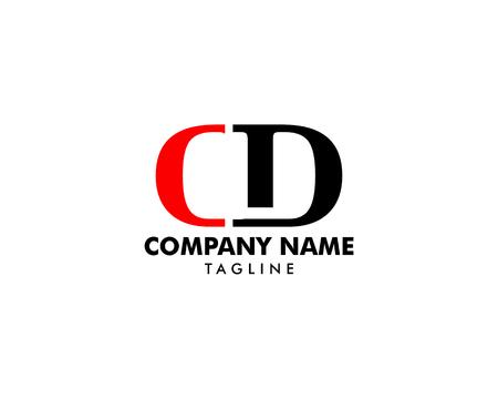 Initial Letter CD Logo Template Design