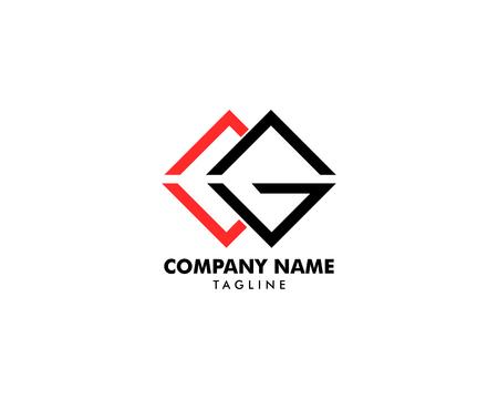 Initial illustration of letter cg vector logo