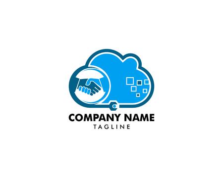 Cloud Deal and Repair Logo Design Element