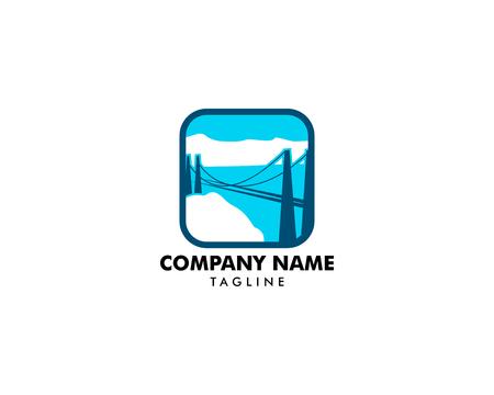 Colorado Street Bridge logo icon designs vector illustration Illustration