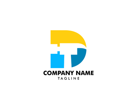 Hammer Logo with Letter D, Repair, Construction or Renovation Logo Concept