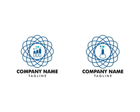 Set of Laboratorium Logo Template Ilustracja