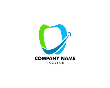 Dental smile logo vector