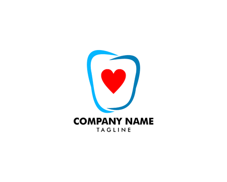 Dental Love logo design template