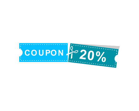 Coupons discount banner 20% offers