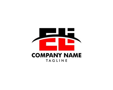 Initial Letter Logo ELI Template Vector Design