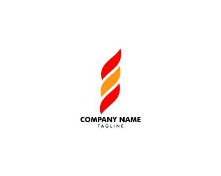 Fire Flame Logo design vector template Illustration