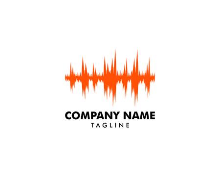 Sound wave illustration logo vector icon template