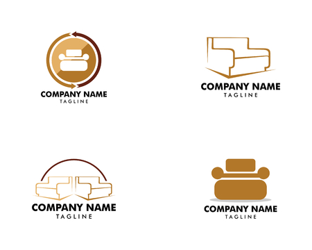 Set of Sofa furniture logo icon concept, Vector illustration