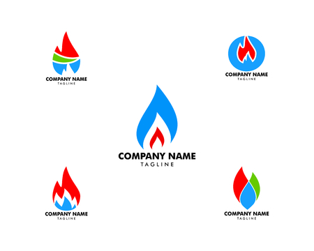 Set of Oil And Gas Logo Design Vector Template Ilustração