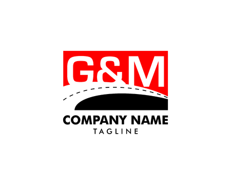 Initial letter G & M logo template vector