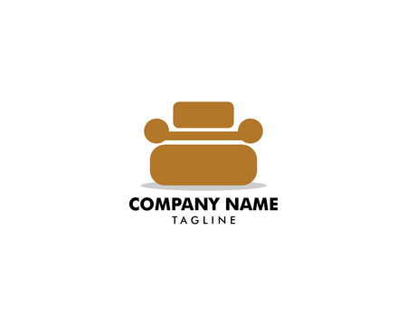 Sofa furniture logo icon concept, Vector illustration