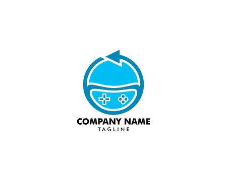 Sync Game Logo Template Design Vector Logo