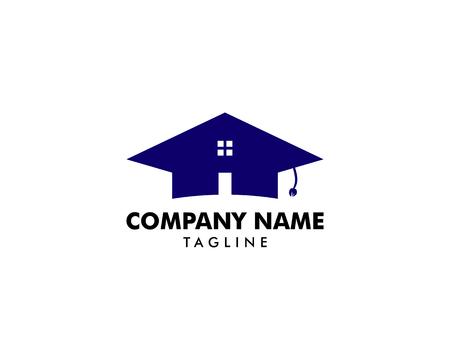 Home Schooling Logo Vector Template Ilustracja